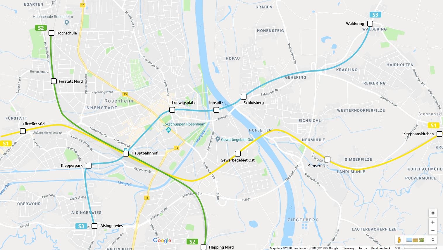 S Bahn Karte München.Rosenheim Bekommt S Bahn Netz